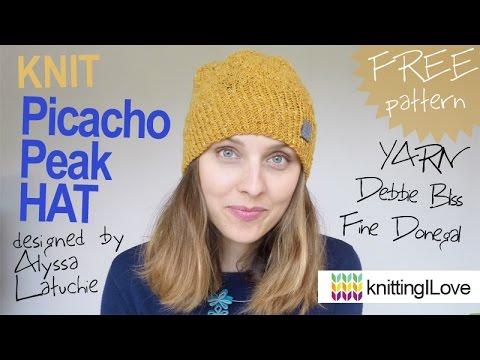 Free Pattern Knit Picacho Peak Hat By Alyssa Latuchie Yarn Debbie