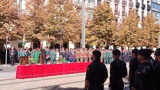 Instituciones en el acto de la Guardia Civil en Zaragoza