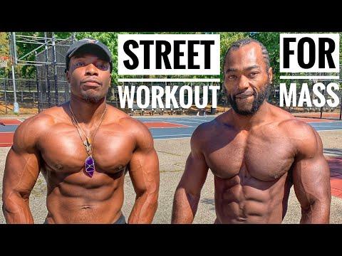 Street Workout For Mass | No Weights Upper Body Workout