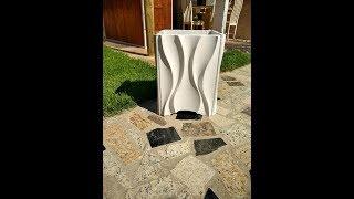 VASO DE PLANTA FEITO DE ARGAMASSA - COMO FAZER VASO 3D CIMENTICIO - CIMENTO 3D
