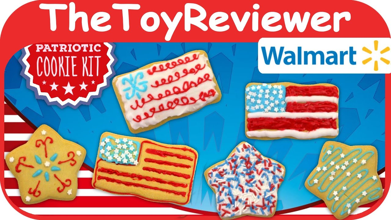 4th of july patriotic cookie decorating kit walmart create unboxing toy review by thetoyreviewer
