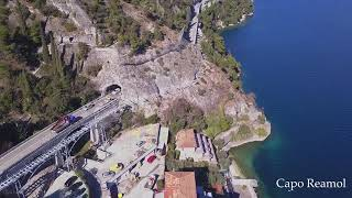 From Limone sul Garda to Riva del Garda by bike (Drone flight)