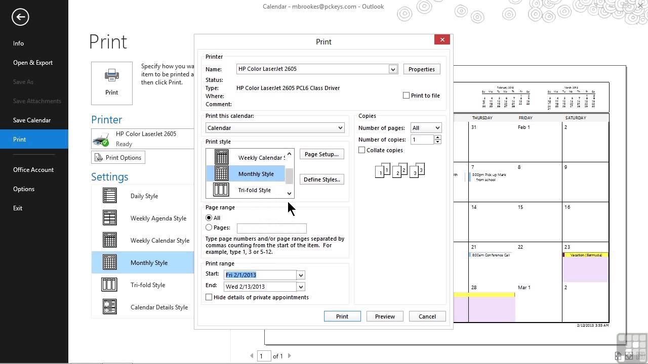 Microsoft Outlook 2013 Tutorial