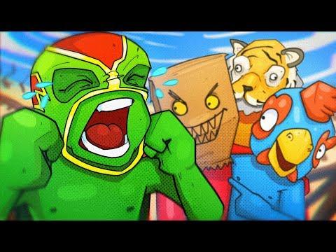 I SUCK AT MINI GAMES! - Pummel Party! (Mario Party Clone)