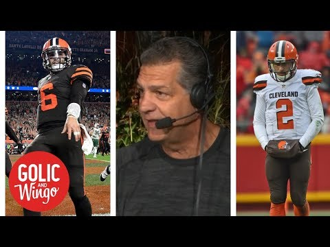 Baker Mayfield wiping away any comparisons to Johnny Manziel for Browns | Golic and Wingo | ESPN