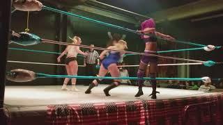 Hawlee Layne vs. Laynie Luck vs. Allie Kat  olfficiated by Ref…