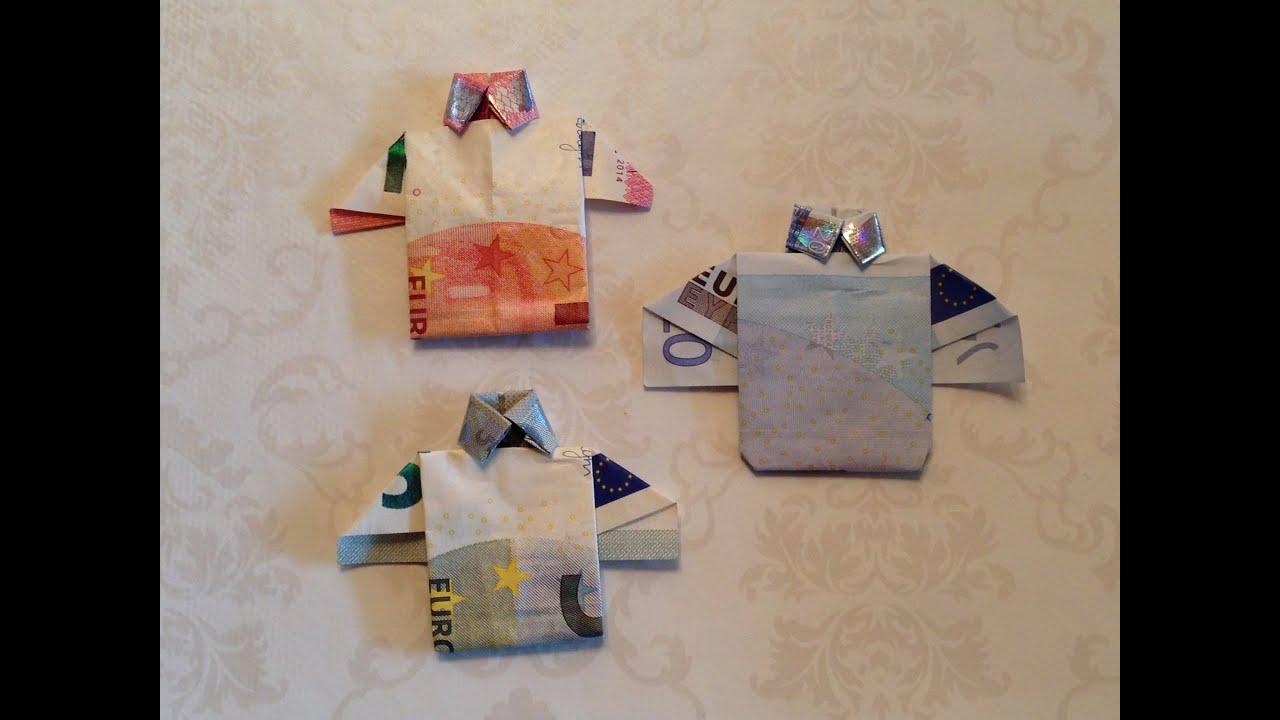 Ongebruikt DIY: Geld vouwen, shirt/overhemd | Knutselen | Crea'Bella - YouTube VJ-76