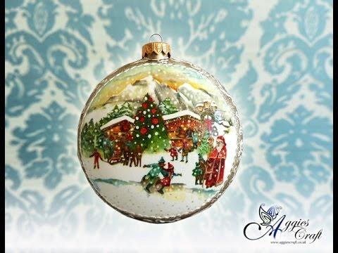 Decoupage Tutorial , Christmas Medallion , DIY Tutorial