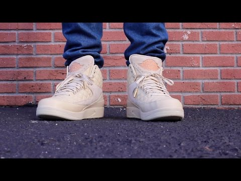 43a4f7c55a7f1e JUST DON X AIR JORDAN 2 BEACH ON FEET REVIEW! - YouTube