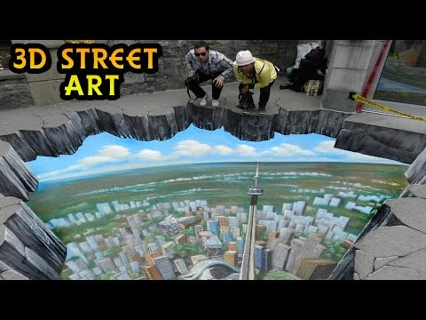 63 Mind Blowing 3D Street Art Illusions Compilation | Optical Illusions & 3D Paintings