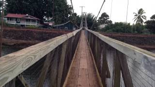 Hanapepe Swinging Bridge in Kauai, Hawaii.
