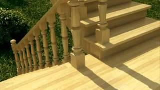 Деревянные лестницы из экологически чистой древесины.(Рекламный ролик: компания