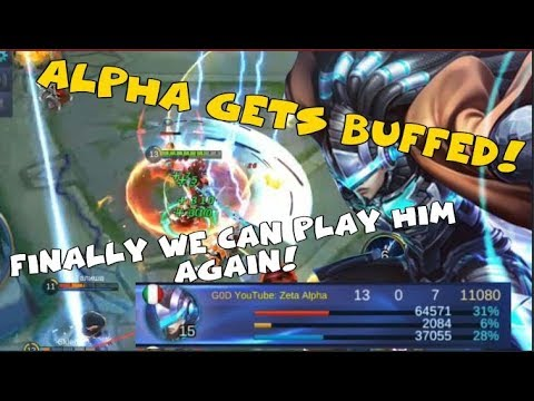 ALPHA HUGE BUFF COMING IN THE NEXT PATCH 1.02.06 (Mobile Legends)