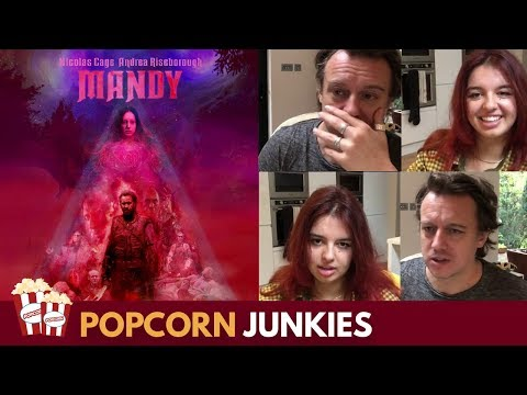 Mandy (Nicolas Cage) SPOILER ALERT – Nadia Sawalha & Family Horror Movie Review