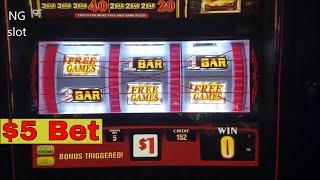 Wild Sevens Slot Machine  ☆★BONUS☆★  Win !!! $5 MAX BET
