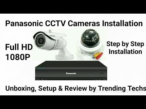 Panasonic CCTV Cameras Setup Complete Installation