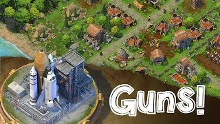 DomiNations Android/iOS Game GUNPOWDER UNITS ATTACK ARQUEBUSIER AND BOMBARDS!