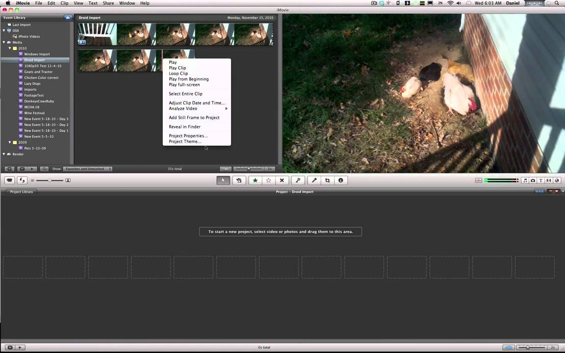 how to make a 1 1 video on imovie