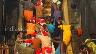 Eighteen Holy steps Pathinettam Padi Sabarimala Kerala