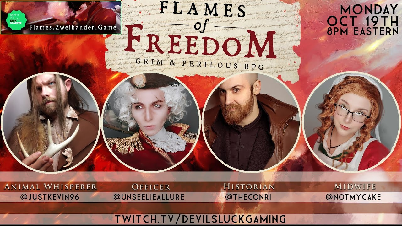 Tales of Sleepy Hollow (Devil's Luck Gaming) | FLAMES OF FREEDOM: Powered by Zweihander RPG