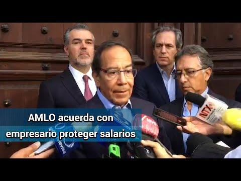 Por Covid-19, AMLO acuerda con IP proteger salarios; van por apoyo a Pymes