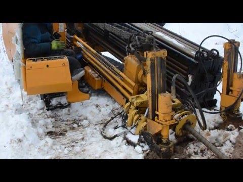 Прокладка труб ПДН методом ГНБ и траншейным способом. Январь- март 2016.