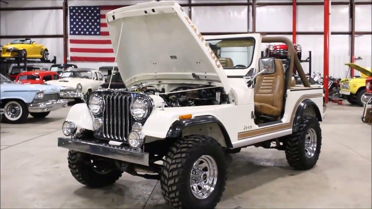 1986 jeep cj7 laredo white [ 1280 x 720 Pixel ]
