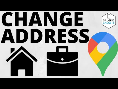 How To Change Home & Work Address in Google Maps App - iPhone & Android