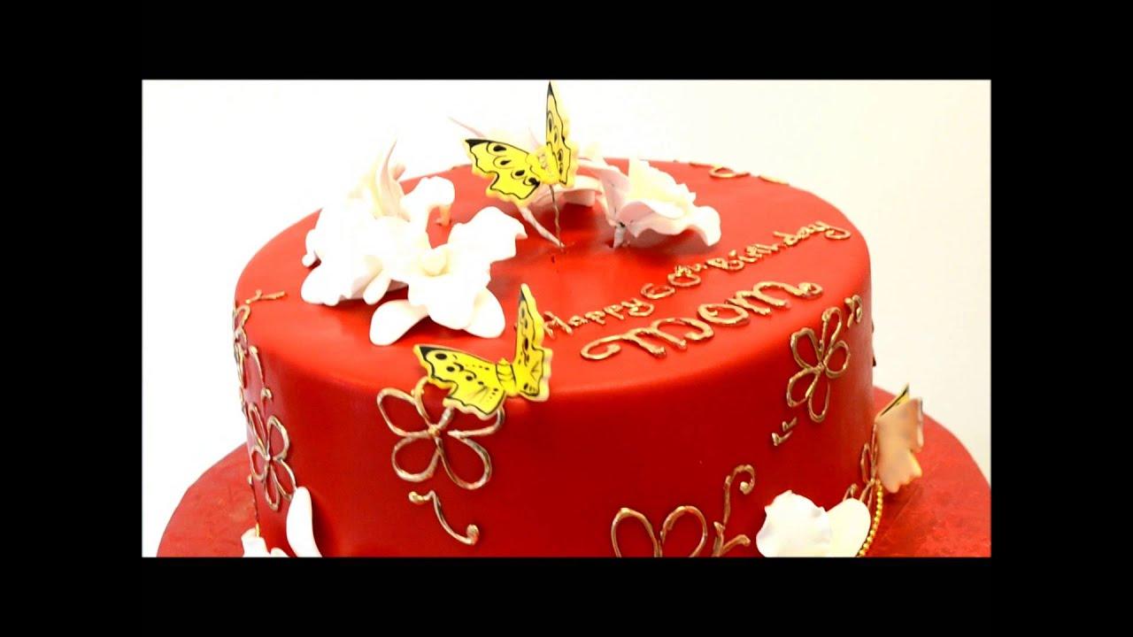 Chines Birthday Cake Chines Cake Idea Mom Birthday Cake Youtube