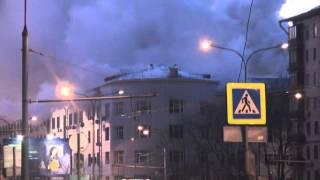 Москва пожар на новослаботской ,fire ,  горит дом культуры ГУВД. Прямо Сейчас.