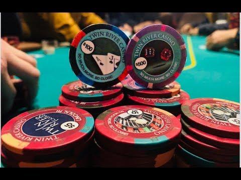 Facing A $450 ALL-IN JAM In A $10 Pot And I CAN'T FOLD!   Twin River Poker Vlog
