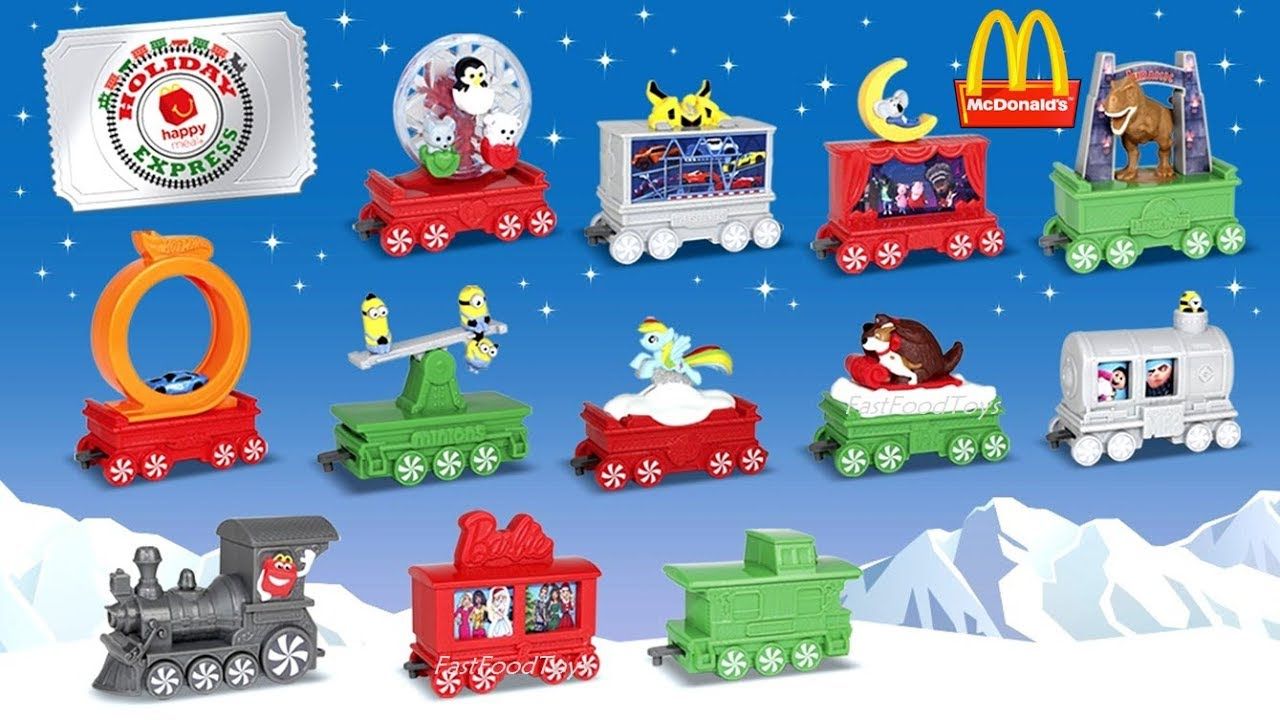 2017 Next Mcdonald S Happy Meal Toys Holiday Express Train