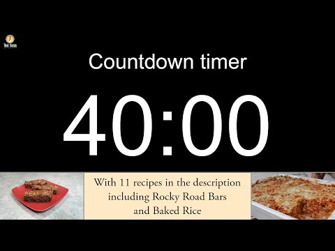40 minute Countdown timer (with alarm)