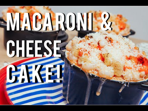 How To Make MACARONI AND CHEESE...out of CAKE!! Orange velvet cake and cream cheese frosting!