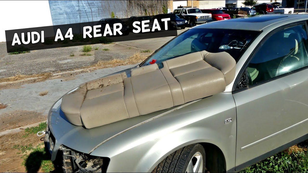 Audi A4 B6 Rear Seat Removal Replacement Youtube