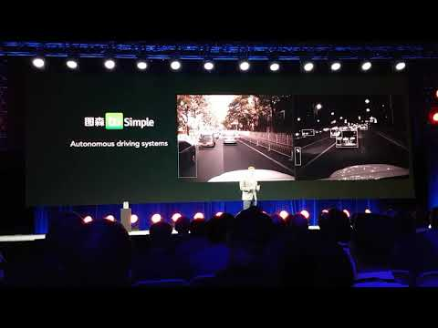 Autonomous driving example from TuSimple.