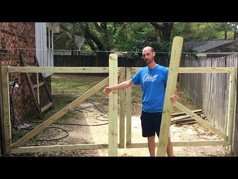 How to build a wooden double gate that won't sag!!
