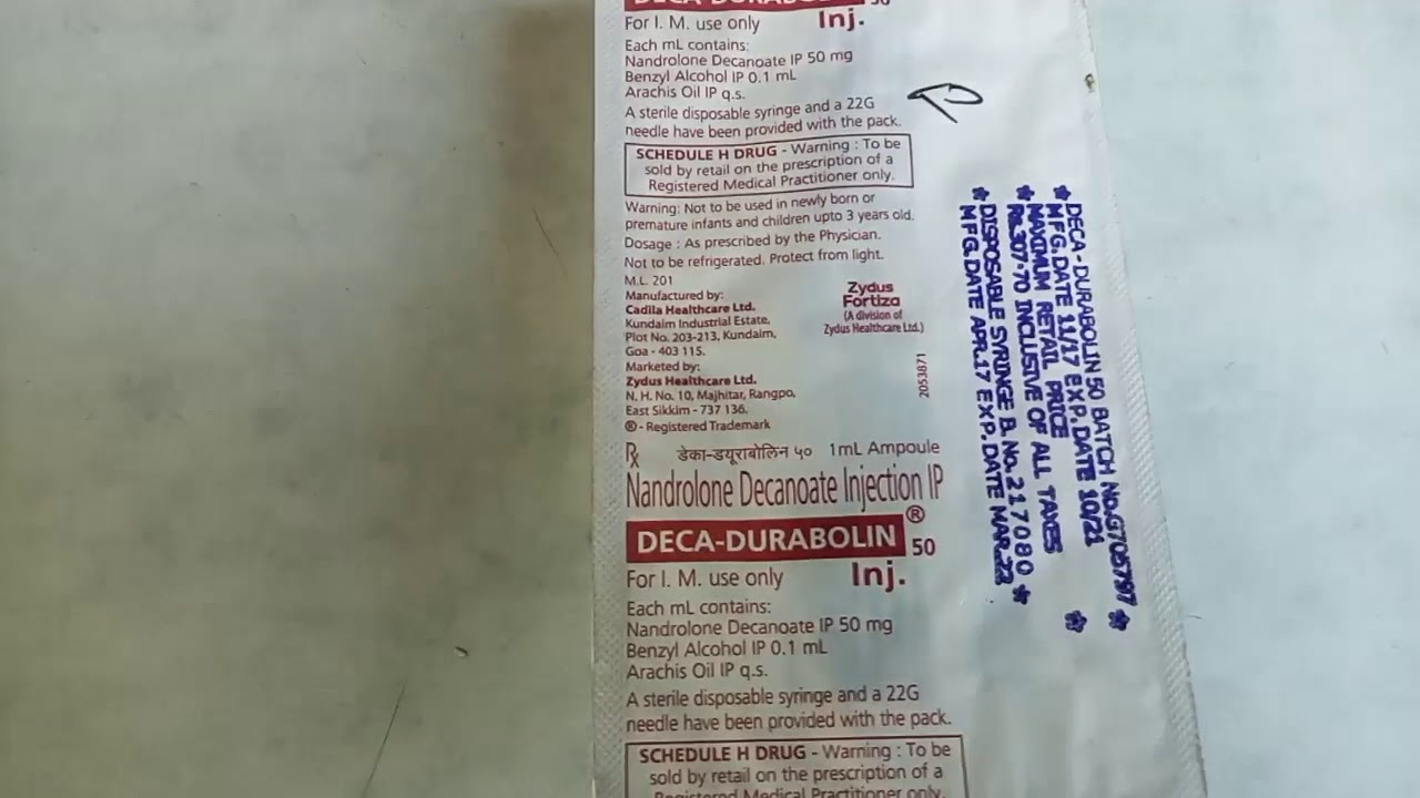 DECA DURABOLIN injection Rx_Nandrolone Decanoate - YouTube