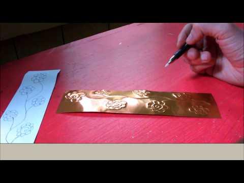 DIY Metal Flower Bookmark Tutorial: Metal Embossing Technique