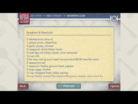 America's Family Recipes App For IPhone And IPad