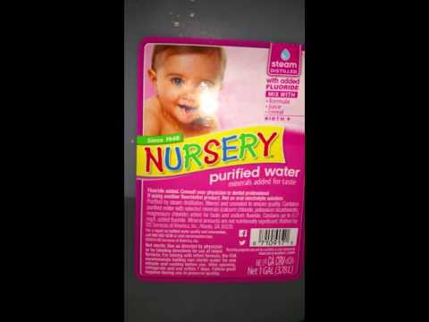 Baby water alert fluoride in the bottle water