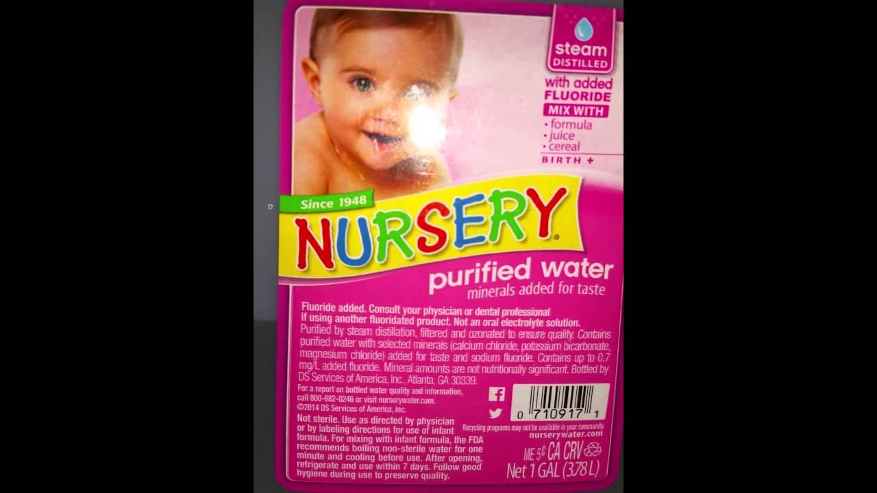 Baby Water Alert Fluoride In The Bottle