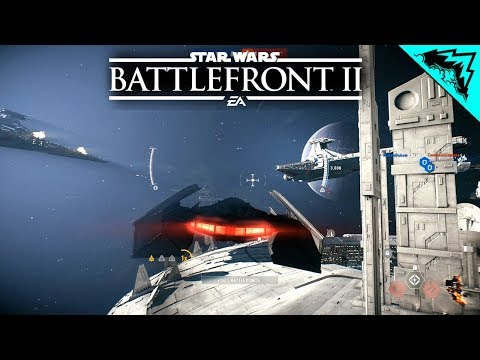 Battlefront 2: Kylo Ren & DROID Starfighter Assault (Star Wars Battlefront 2 MULTIPLAYER Gameplay)