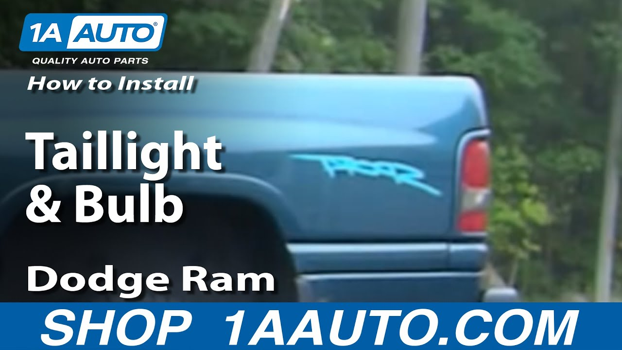 hight resolution of how to install replace taillight and bulb dodge ram 94 01 1aauto com youtube