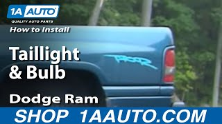 how to install replace taillight and bulb dodge ram 94 01 1aauto com