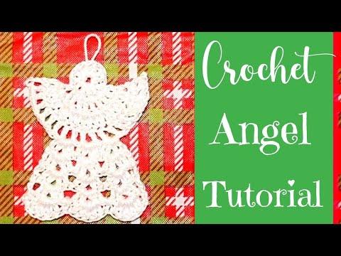 Crochet Angel Ornament Tutorial - YouTube