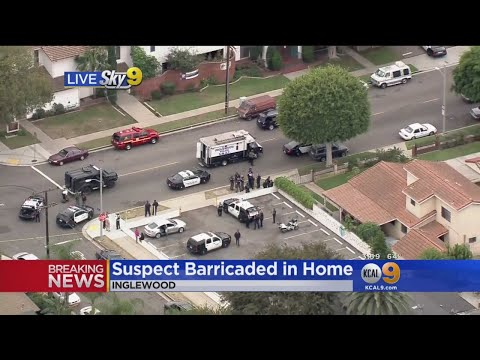 Suspect In Inglewood Holds SWAT Team At Bay For Hours After Shooting At Officers