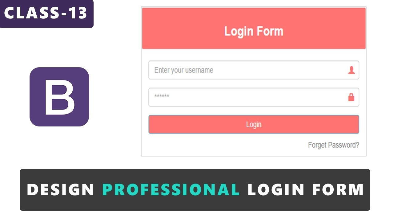 Design professional login form in bootstrap bootstrap tutorials design professional login form in bootstrap bootstrap tutorials for beginners urduhindi class 13 falaconquin