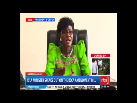 State Minister for Kampala Hon. Benny Namugwanya on KCCA Amendment Bill 2015