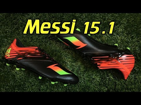 3118033cd181 Adidas Messi 15.1 Black/Solar Green/Red - Review + On Feet - YouTube